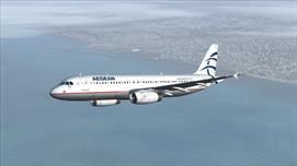 A320 Aegean Airlines, after departure from LGIR